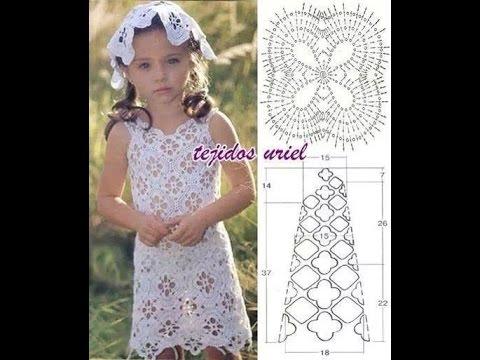 CROCHET BABY DRESS PATTERN طريقة فساتين كروشيه بالباترون