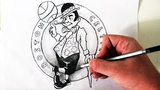 Como Desenhar a logo Boston Celtics [NBA] - (How to Draw Boston Celtics logo) - NBA LOGOS #4