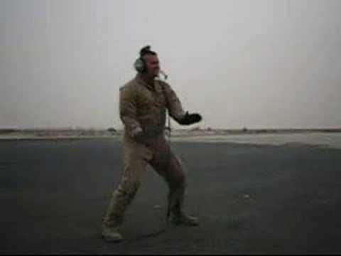 A funny Air-Force guy dancin'