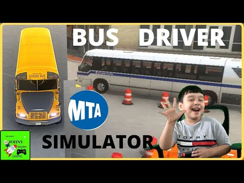 Johny Shows Bus Driver Simulator School Bus & MTA Bus |