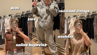 zara, asos, weekday online kupovina: try on haul