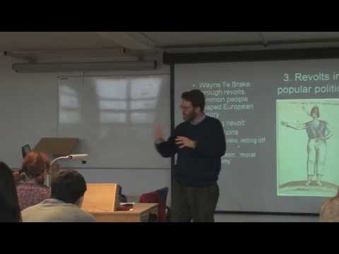 Society, Culture and Politics in Europe 1500-1750: Dr Matthew Vester