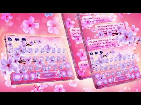 Beautiful SMS Keyboard Theme