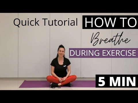 How to Breathe During Exercise | Quick Tutorial on Pilates & Deep Breathing