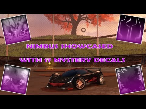 """New Rocket League """"Nimbus"""" Car Showcased With 17 Mystery Decals! thumbnail"""