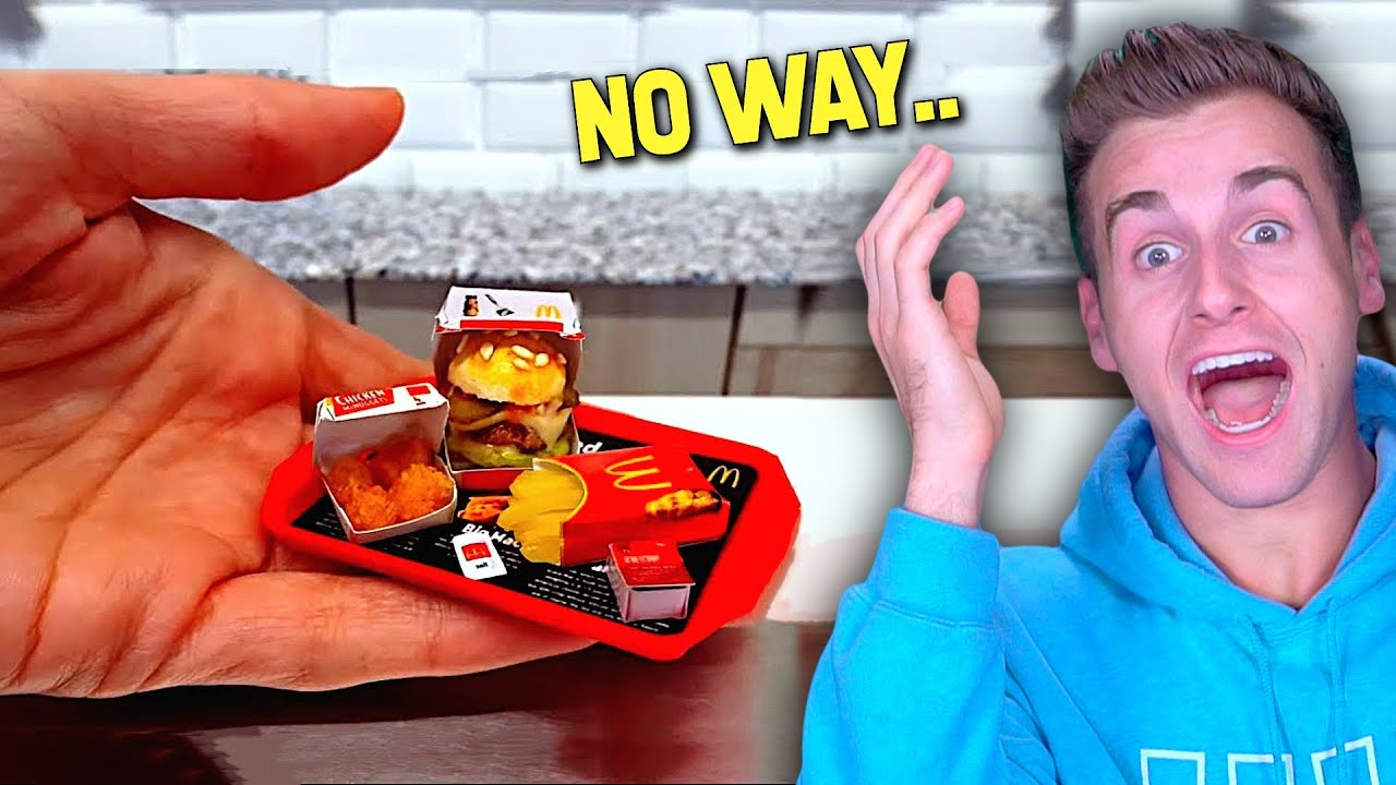 This is Mcdonald's New Mini Fast Food Size...(WOW!)