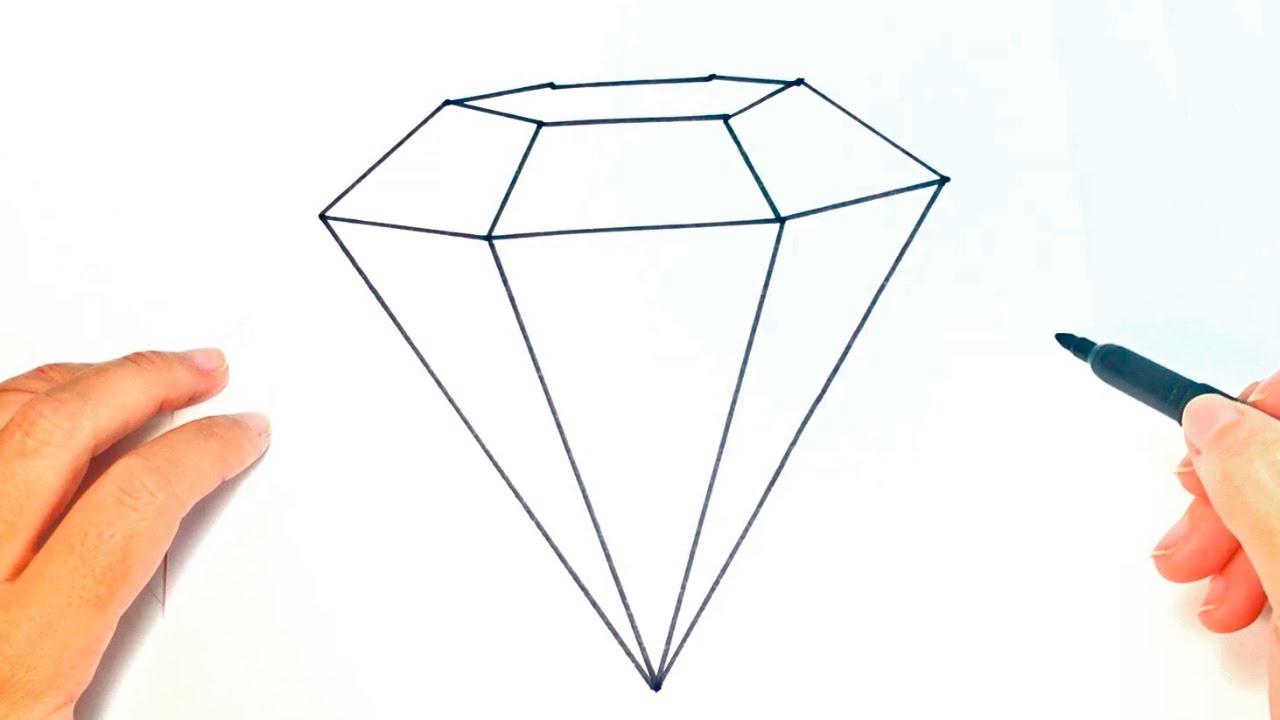C mo dibujar un diamante paso a paso dibujo f cil de for Comedor facil de dibujar