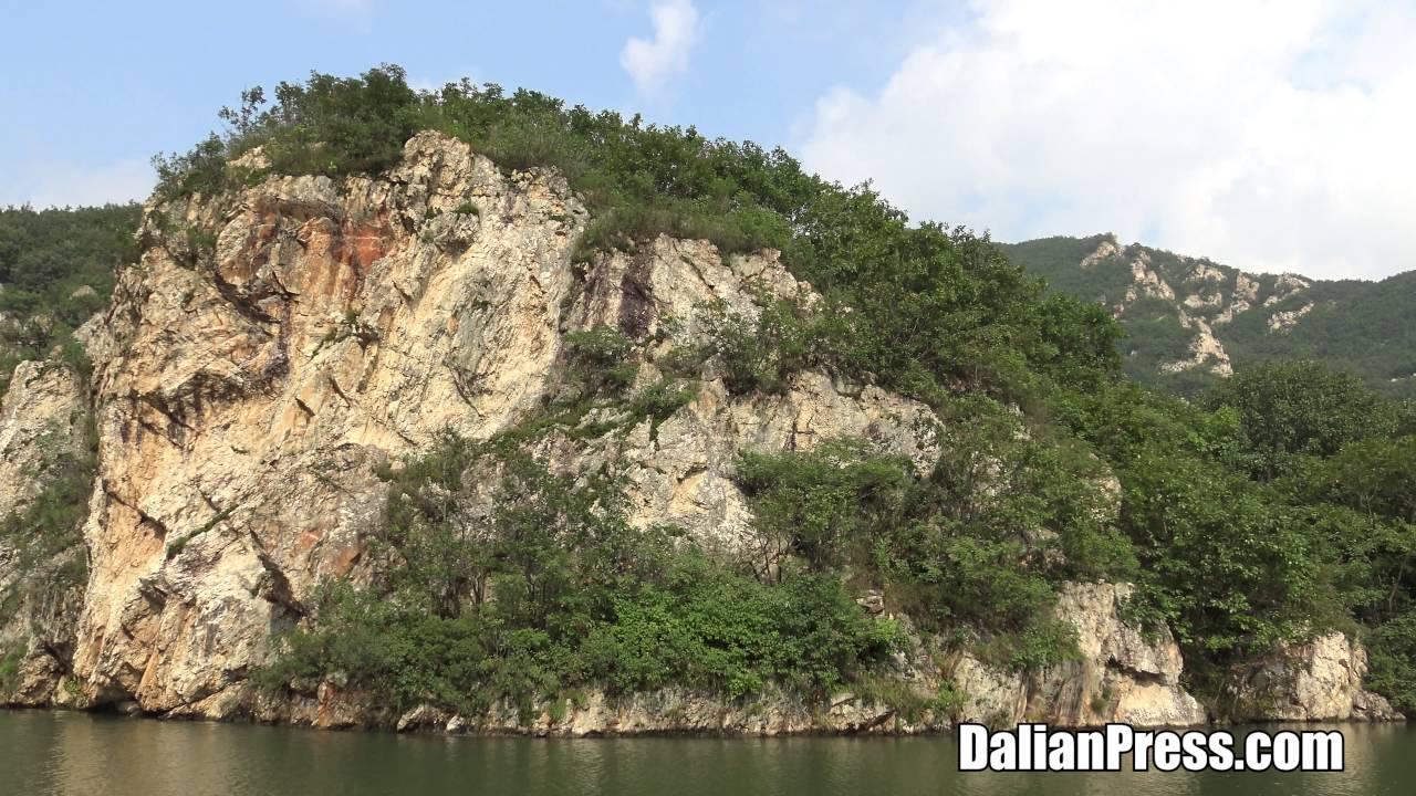 4K] 中国 大連観光 冰峪溝(荘河...