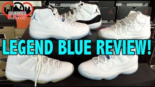 "Air Jordan 11 Retro ""Legend Blue"" Review & Comparison + On Foot (Columbia XI)"