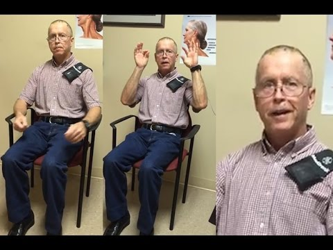 Watch as Parkinson's treatment calms man's tremors in seconds