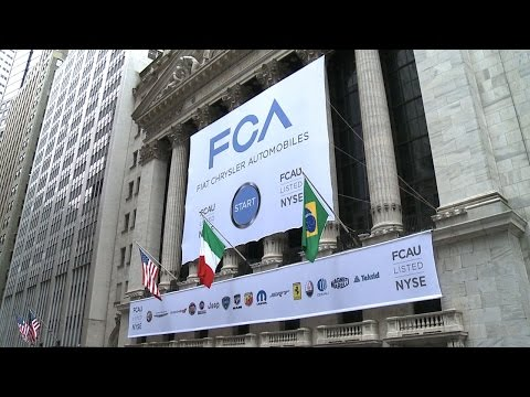 Fiat Chrysler Automobiles NYSE Banner Raising