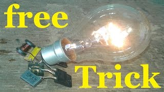 Free Energy Light Bulb Trick  230v Bulb