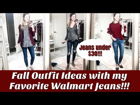 [VIDEO] - Fall Outfit Ideas with WALMART jeans!! Jeans under $30!! 4