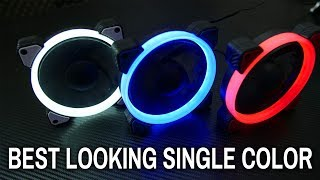 Best Looking Single Color LED Fans - Cougar Vortex LED FW, RW & BW