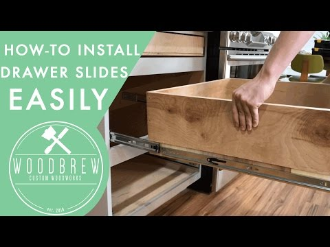 How To Install Cabinet Drawers Slides | Woodbrew