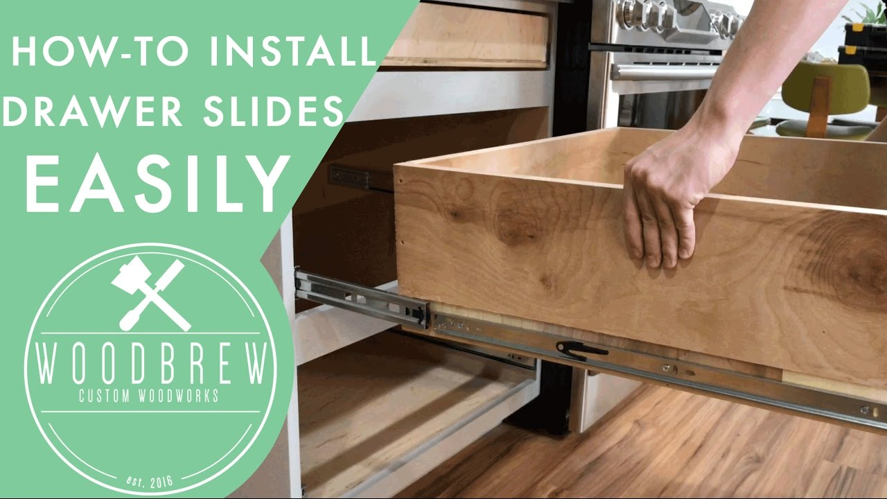 How To Install Cabinet Drawers Slides  Woodbrew  YouTube