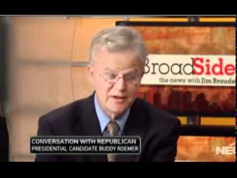 """Lobbyists Write the Tax Code"" - Gov. Buddy Roemer, Broad Side with Jim Braude"