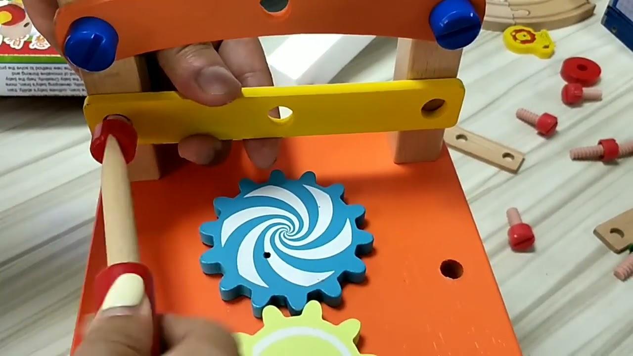 Kid's Activity Building Blocks Recreational Play Toy Chair Repair Tools Set Craft