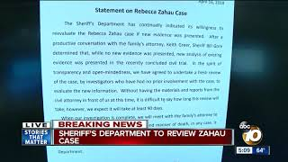 Sheriff's Department to review Zahau case