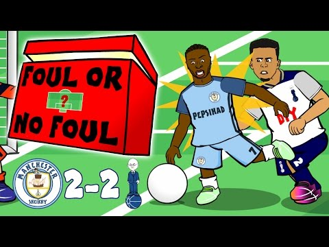 STERLING FOULED? Foul or No Foul? Man CIty 2-2 Spurs 2017 (Parody Sterling Penalty Highlights)