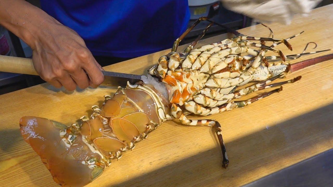 Rainbow Lobster Sashimi, Miso Soup / 七彩龍蝦刺身, 龍蝦味噌湯 - Seafood in Taiwan