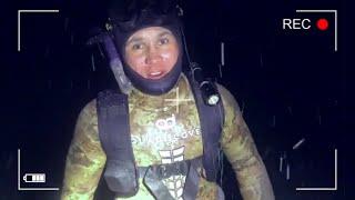 Много дохлой рыбы просто жесть Подводная охота зимой Обрезанный костюм плюсы зимой Павловское ГЭС