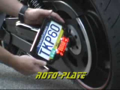 & Roto-Plate Rotating Motorcycle License Plate Mount - YouTube