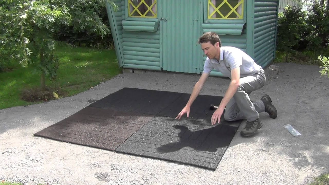 how to install rubber tiles in patio or play areas