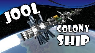 [12] SSTO Space Program - Massive Jool Colony Mothership - KSP 1.2.2