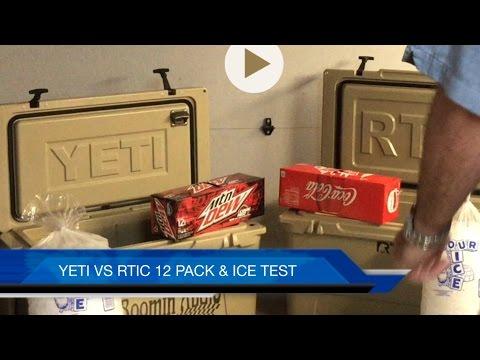 YETI VS RTIC cooler ICE TEST