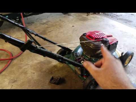 Lawn mower engine swap project