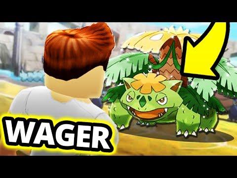 *RARE* SHINY STARTER WAGER MATCH! (Pokemon Brick Bronze)
