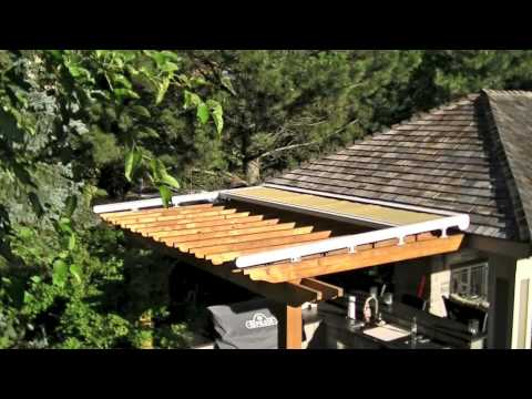 pergola retractable awning youtube