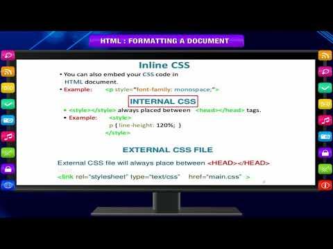 HTML – FORMATTING A DOCUMENT Class-7