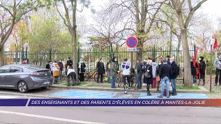 Yvelines | Des enseignants et des parents d'élèves en colère à Mantes-la-Jolie