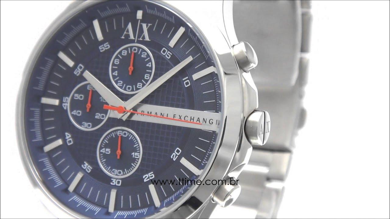 75f30eeed42 Relógio Armani Exchange AX2155 1AN. - YouTube