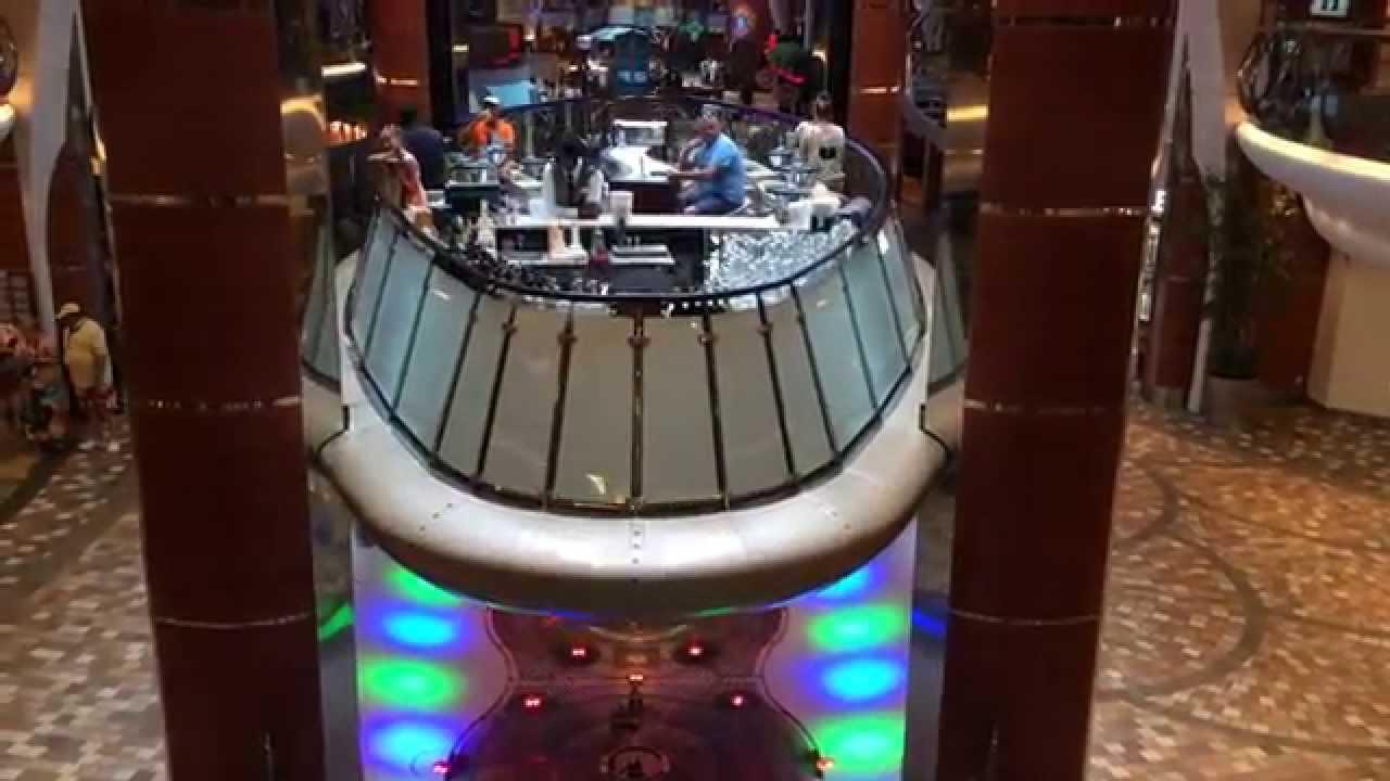 Rising Seas >> Allure of the Seas - Rising tide bar - Bar ascenseur - Royal Caribbean - YouTube