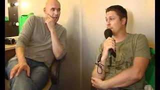 Денис Рожков берет интервью у Максима Аверина