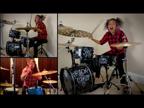 Dave Grohl VS Nandi Bushell EPIC Drum Battle - Dead End Friends - Them Crooked Vultures - Checkmate!