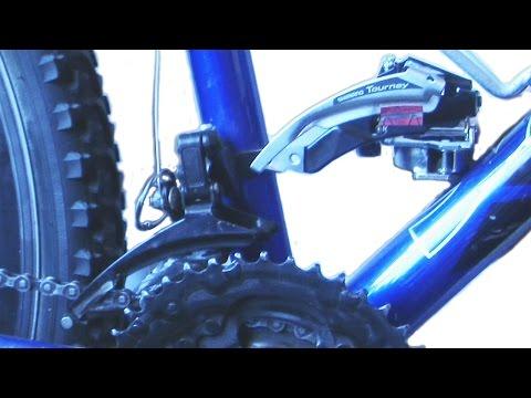 Замена и настройка переднего переключателя  велосипеда, видео 2