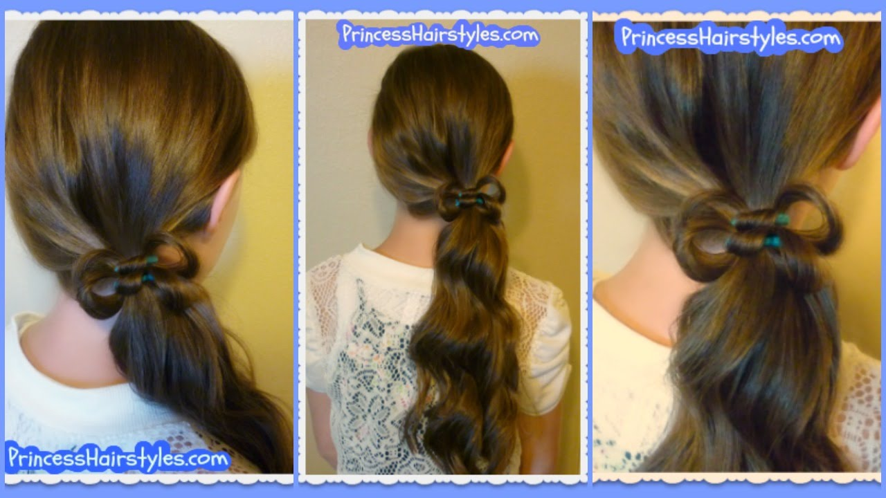 How To Make A Double Hair Bow Hairstyle, Easy Elastic Wrap Method