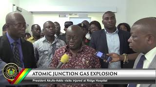 President Akufo-Addo Visits Gas Explosion site