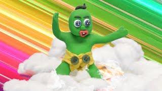 Fun Superhero Baby Plays On The Rainbow - Play Doh Stop Motion Cartoons