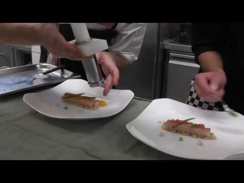 Service at Michelin star Onyx Restaurant in Budapest, Hungary