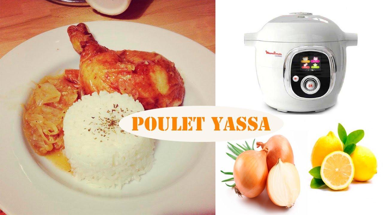 Recette du poulet Yassa avec le cookéo de Moulinex