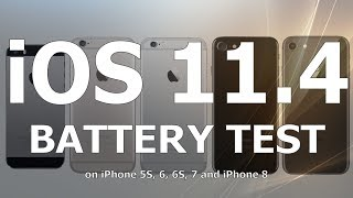 iOS 11.4 Battery Life Test : Has it improved over iOS 11.3.1?  Yes it has!