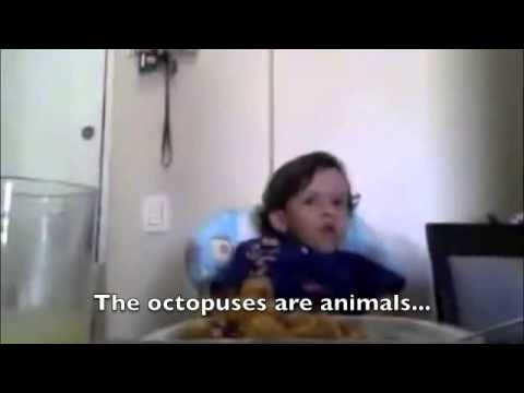 child explains why he doesn´t want to eat meat AWESOME!
