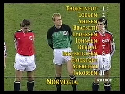 1992 UEFA Euro Qualifiers - Italy V. Norway