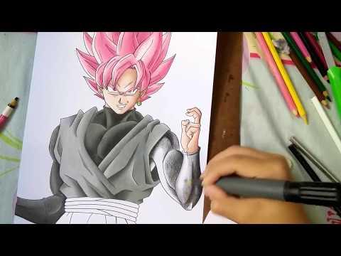 How to Draw Goku Black SSJ Rose - Como desenhar Goku Black SSJ Rose (Painting/Pintura) Part. 2