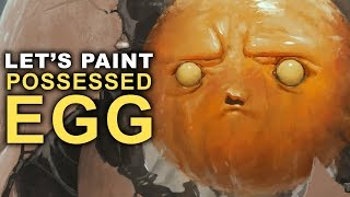 THE YELLOW TERROR  Let39;s Paint the Possessed Egg